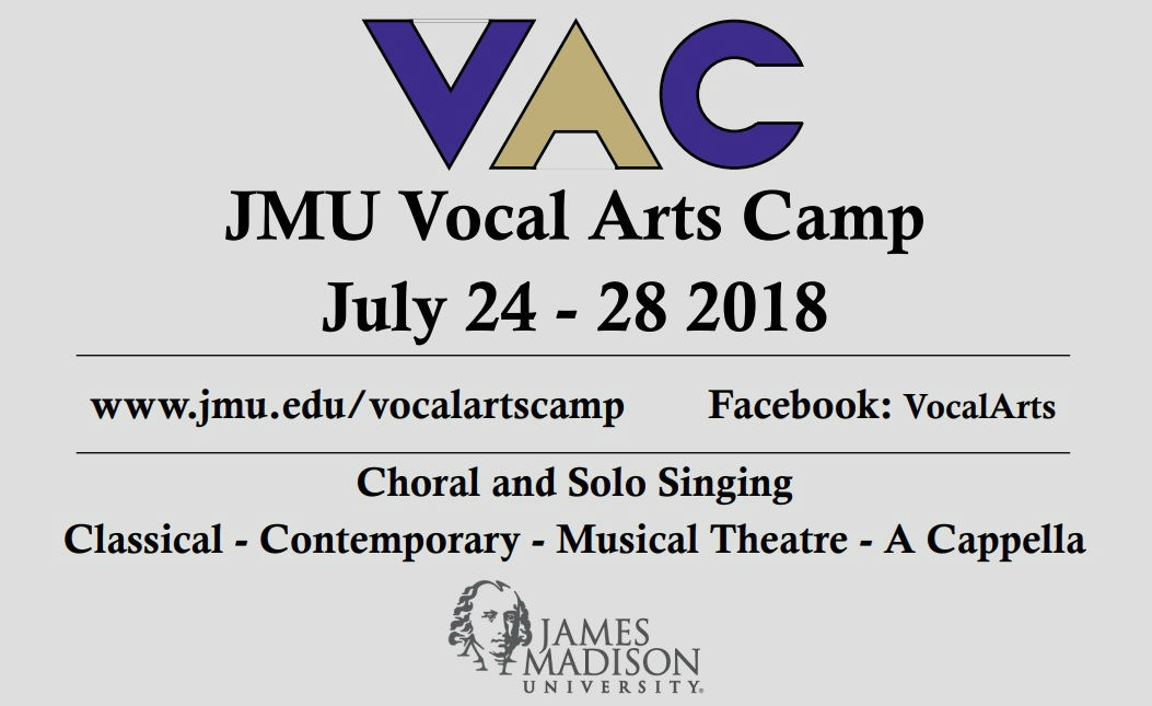 2018 Vocal Arts Camp Flyer