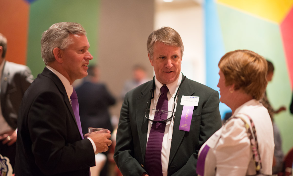 Jon Alger hears from alumni-parents Charles ('81) and Sarah Morrison Smith ('80)