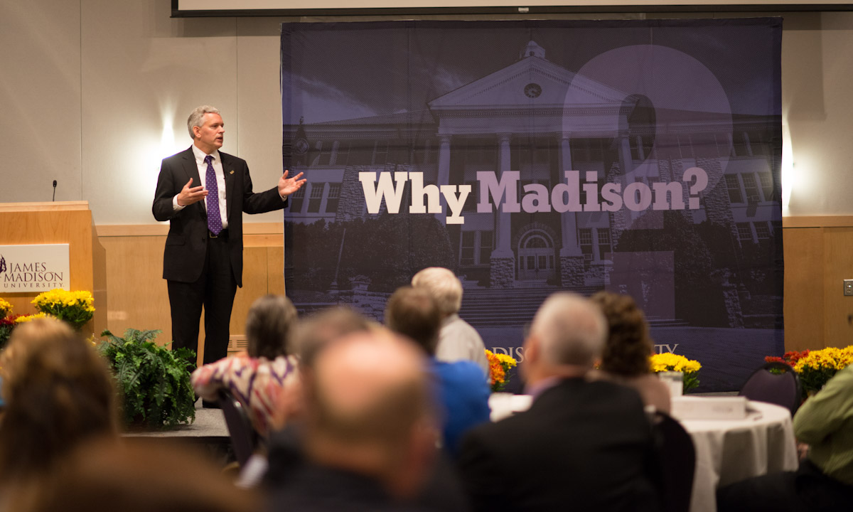 "President Alger introduces ""Why Madison?"""