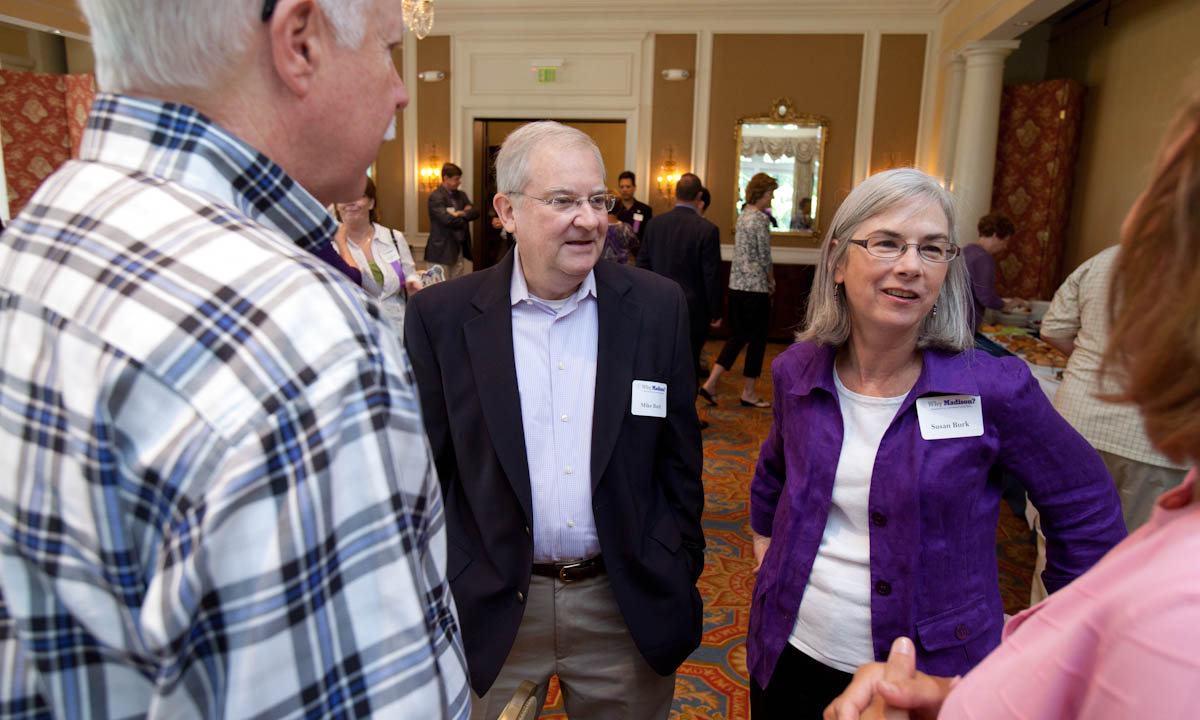 Michael Burk (center), Susan Burk