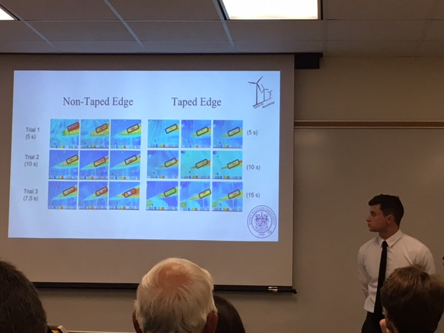 image of students presenting at symposium