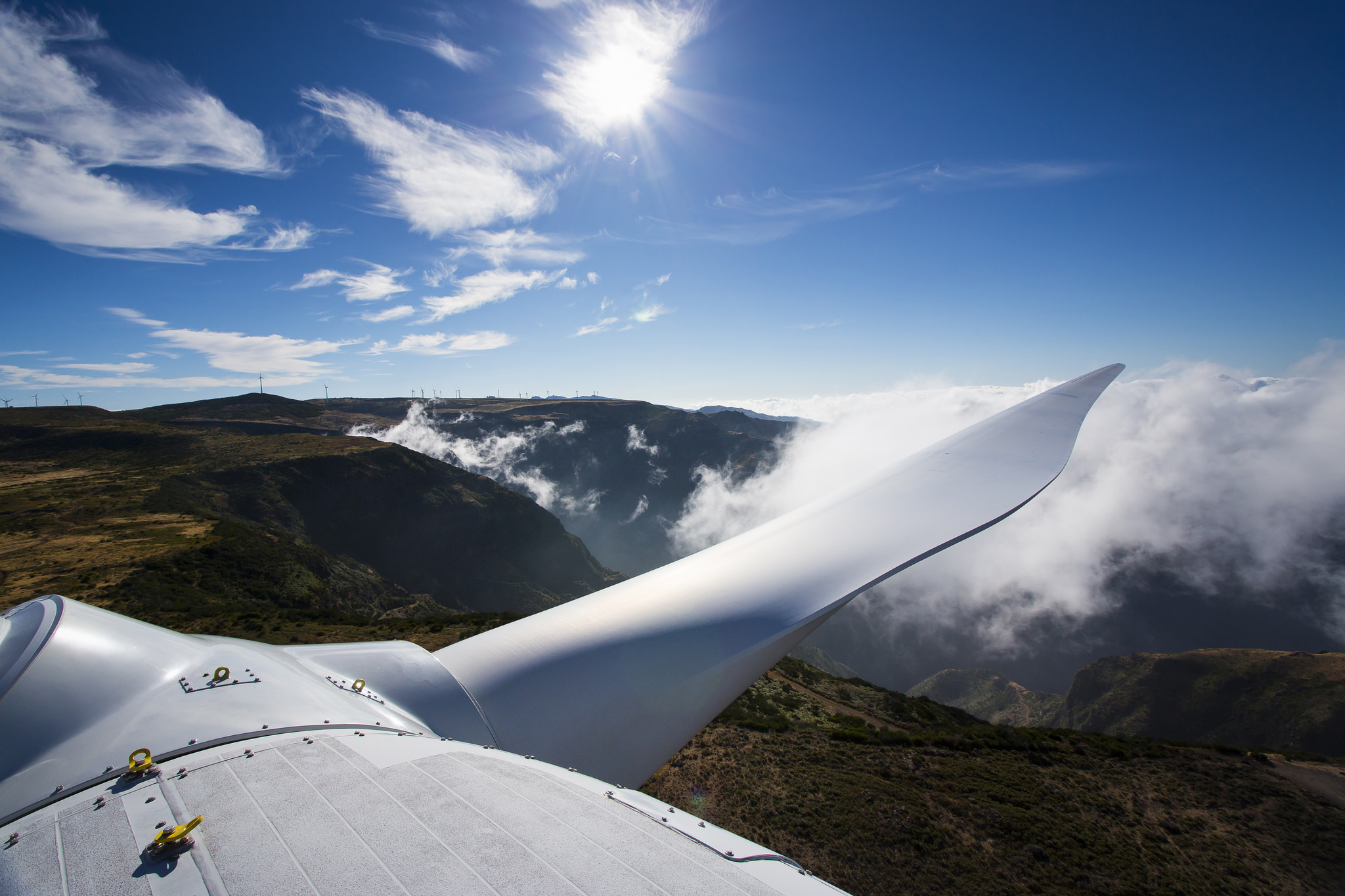 image of the view from a wind turbine