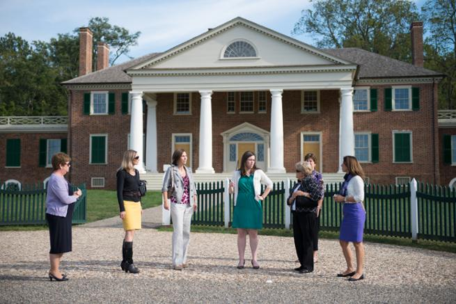 The women enter Montpelier Hall