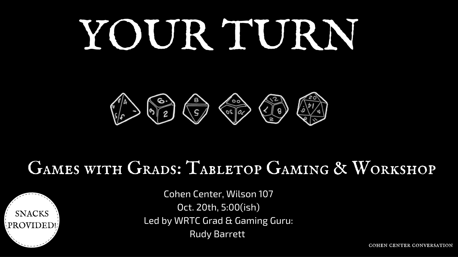 Your Turn, Games with Grads