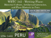 WRTC 342 Writing Place - Peru, Summer 2016