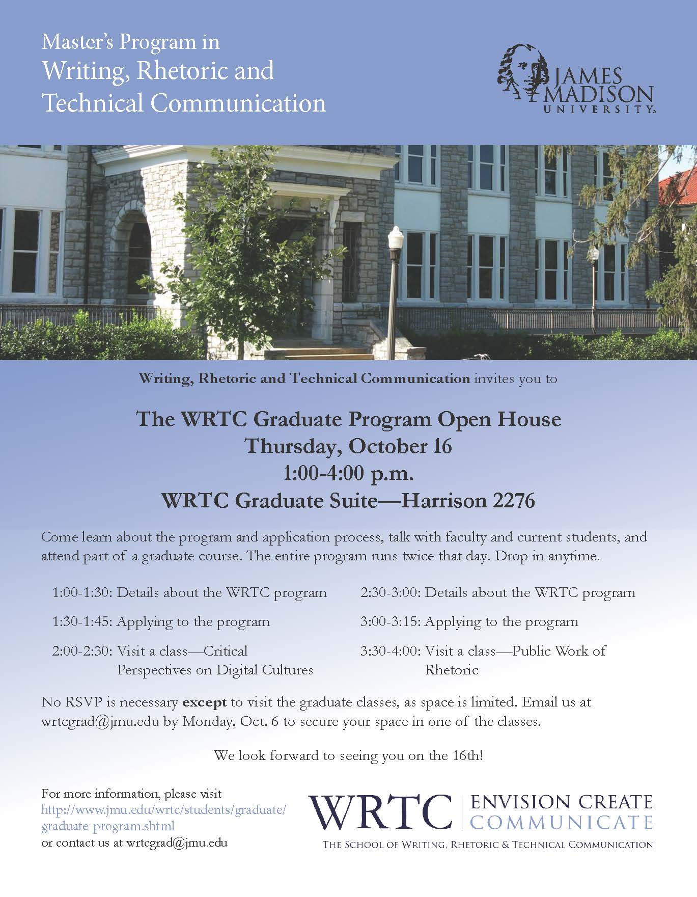 WRTC Open House Flyer