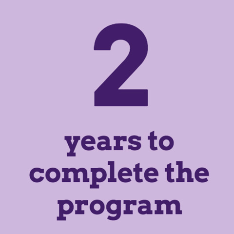 2 years to complete the program