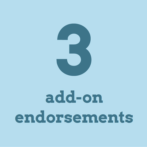 3 add-on endorsements