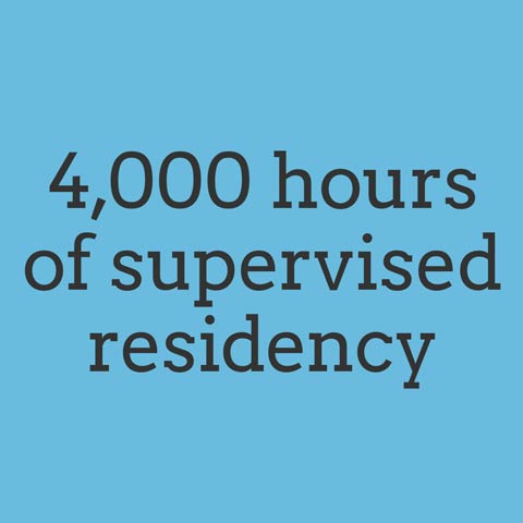 4,000 hours of supervised residency