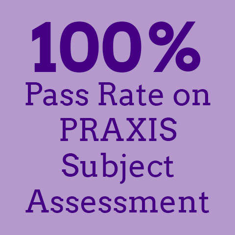 100% PRAXIS Subject Assessment Pass Rate