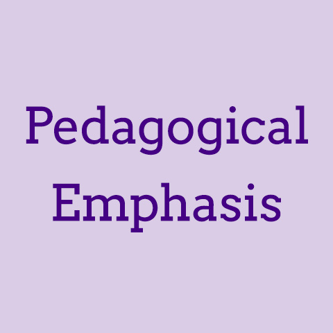 Pedagogical emphasis