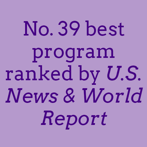 No. 39 best program ranked by U.S. News & World Report