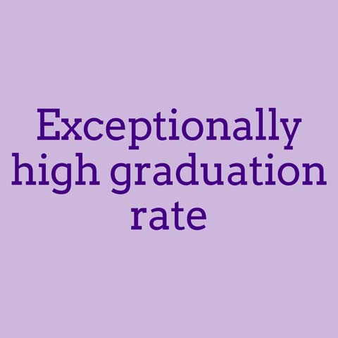 Exceptionally high graduation rate