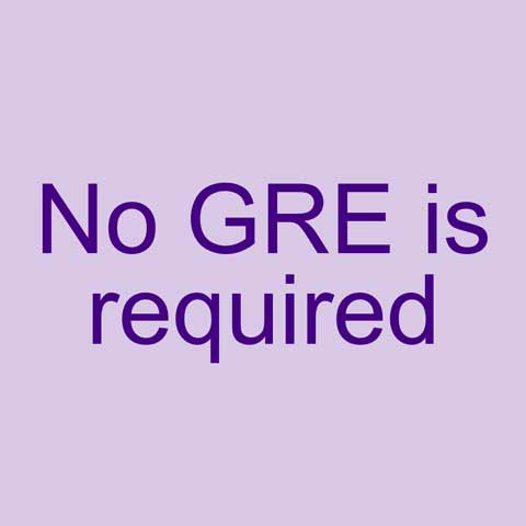 No GRE is required