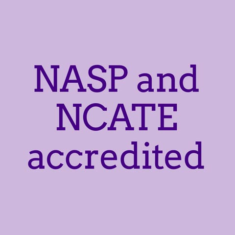 NASP and NCATE accredited