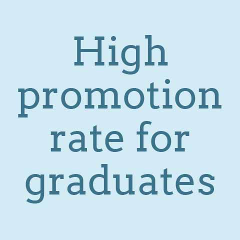 High promotion rate for graduates