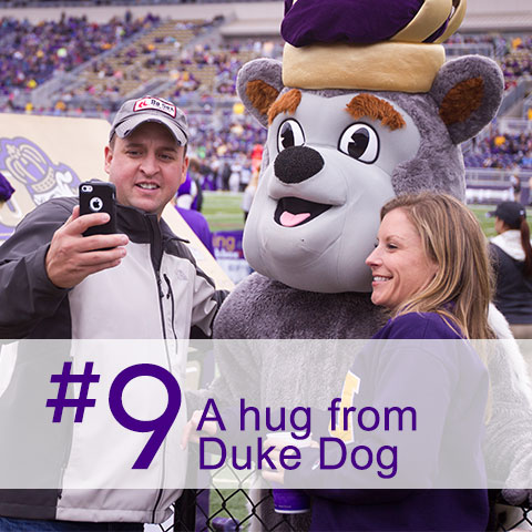#9 A hug from Duke Dog
