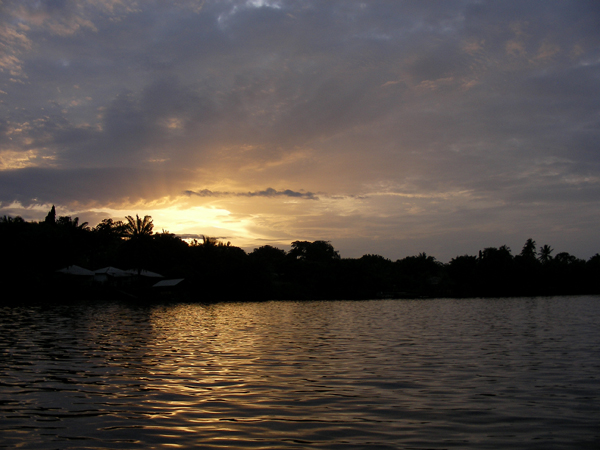 Sunset over Volta River