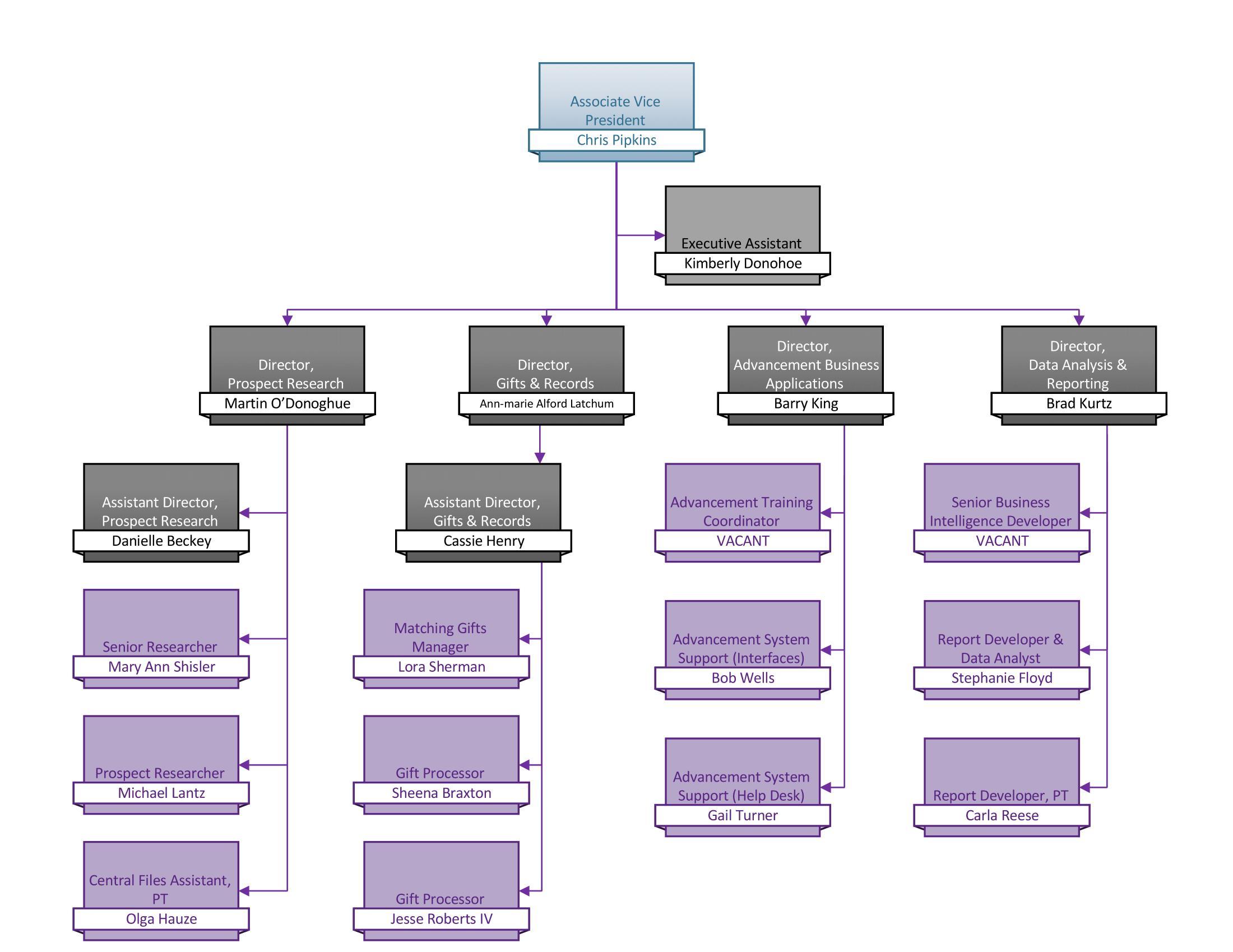 AIS Organizational Chart