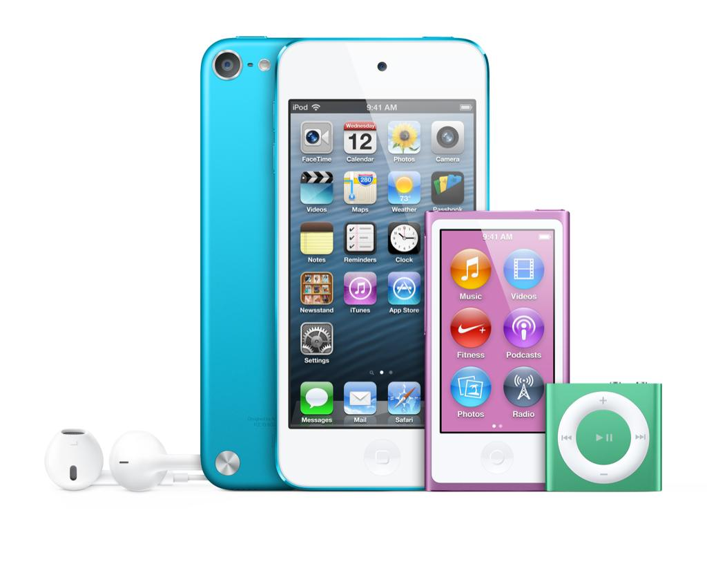 The iPod family consists of Ipod