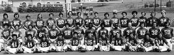 1975 Football Team Picture