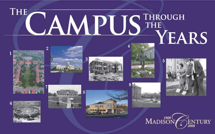 The Campus Through the Years Banner