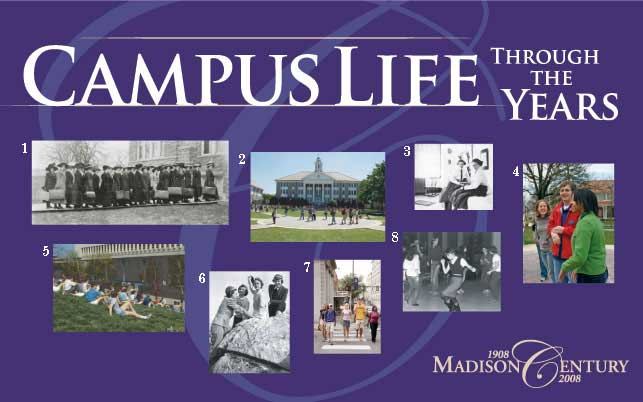 Campus Life Through the Years Banner