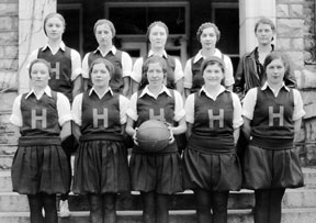 First intercollegiate basketball team