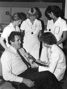 Nursing students with Dr. Carrier