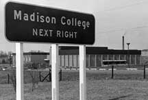 Madison College exit sign on Interstate 81