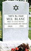 Tomb Stone of Mel Blanc