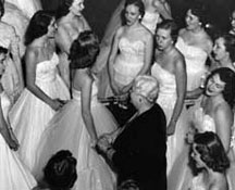 Edna Shaeffer with members of the Glee Club