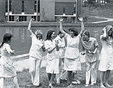 Nursing students at Newman Lake