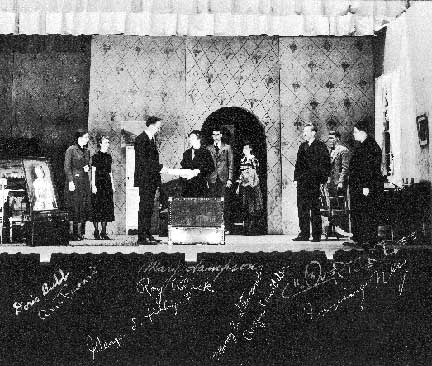 Stratford Players on stage photo signed by cast.