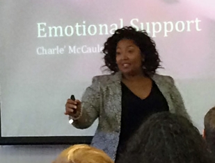 M.A. student Charle McCauley's emotional support workshop