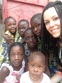 My daughter Gwen in Benin, Africa
