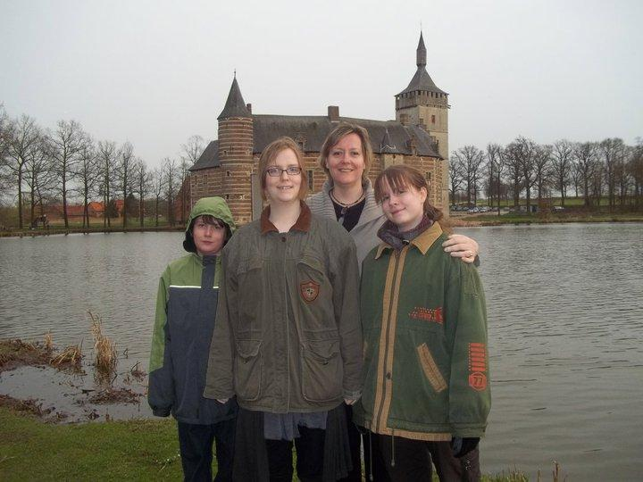 Annick and her family in Belgium