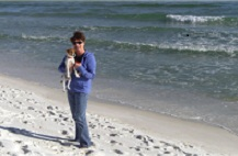 Dr. Toni Whitfield with her dog Hasten in Pensacola