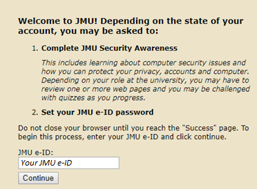 James Madison University - Two Factor Authentication (Duo