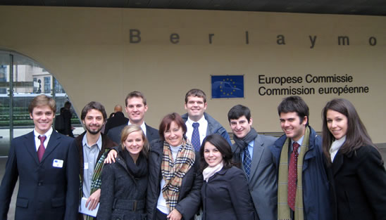 EUPS students outside of European Commission HQ