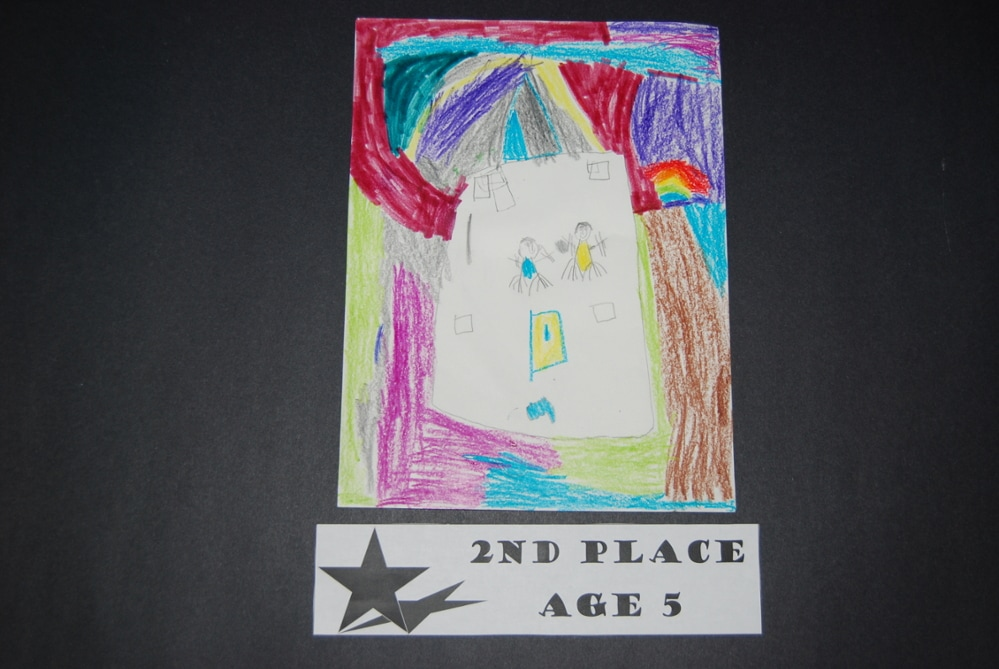 Drawing Peace 2nd Place Age 5