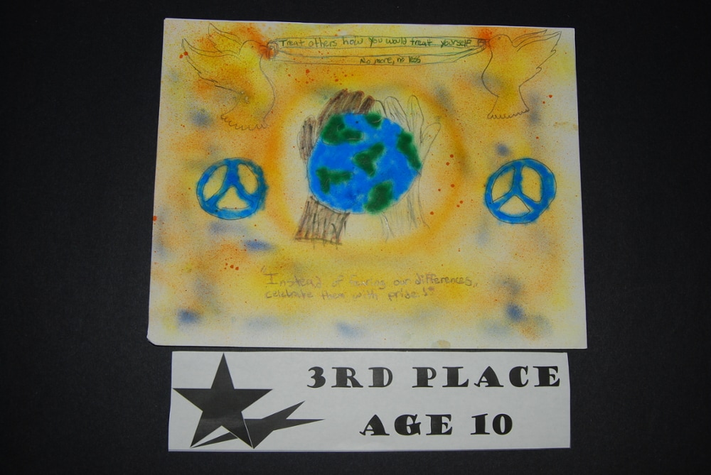 Drawing Peace 3rd Place Age 10