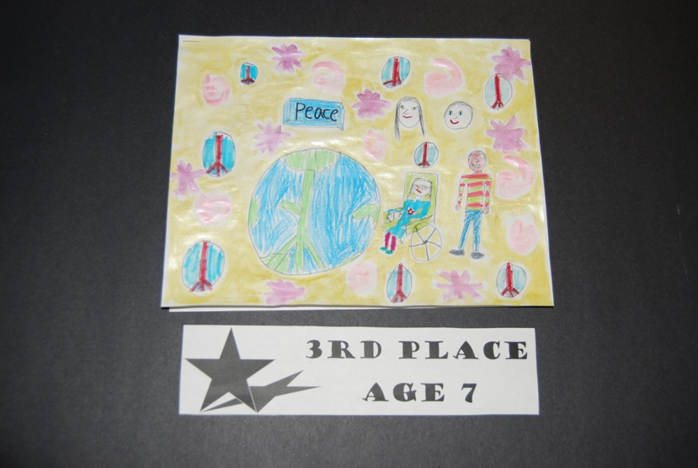 Drawing Peace 3rd Place Age 7