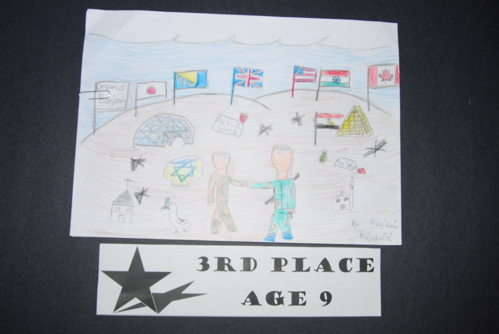 Drawing Peace 3rd Place Age 9