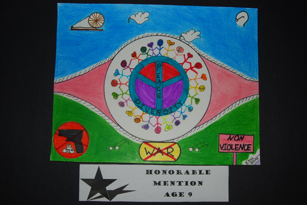 Drawing Peace Honorable Mention Age 9