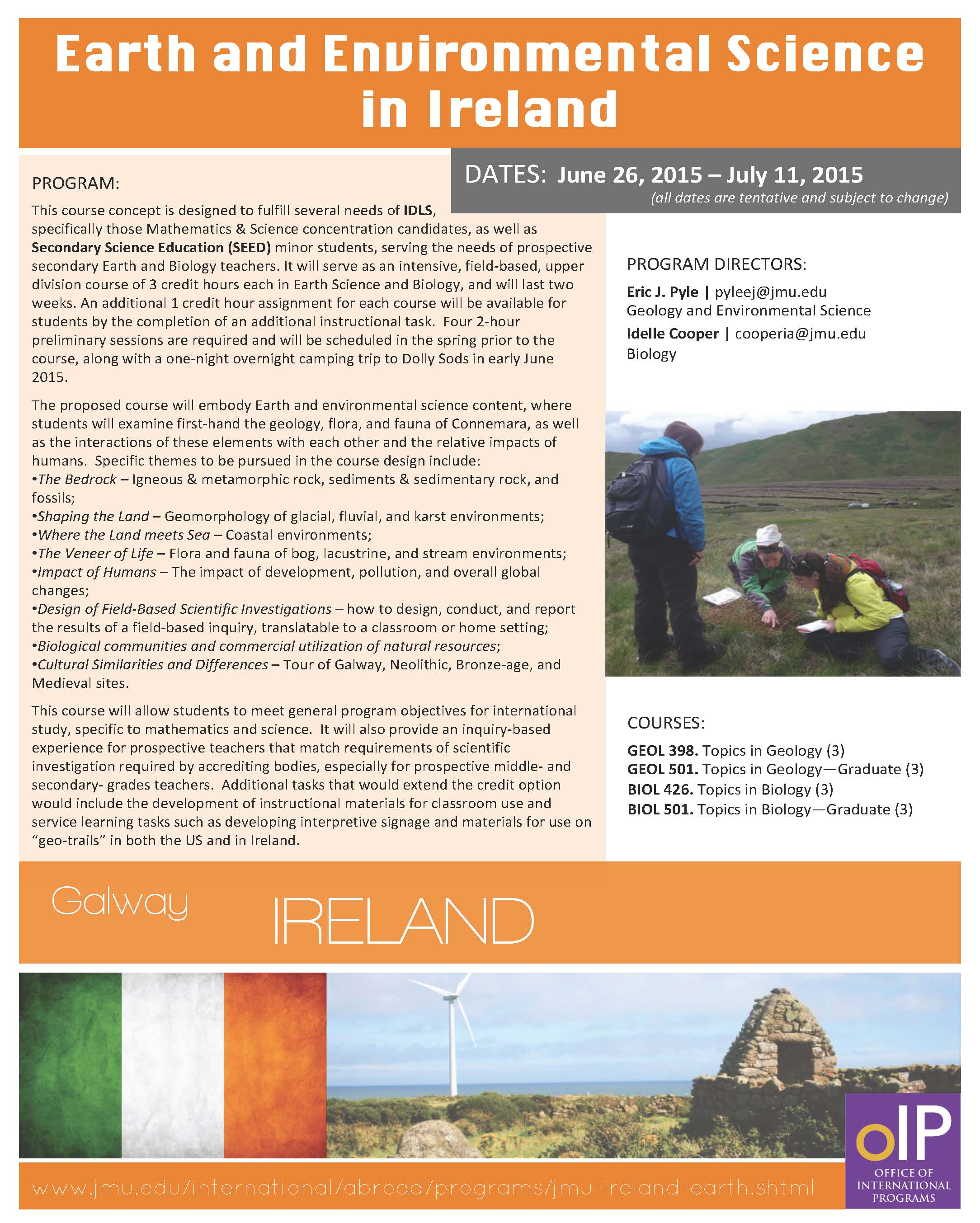 Earth & Environmental Studies in Ireland