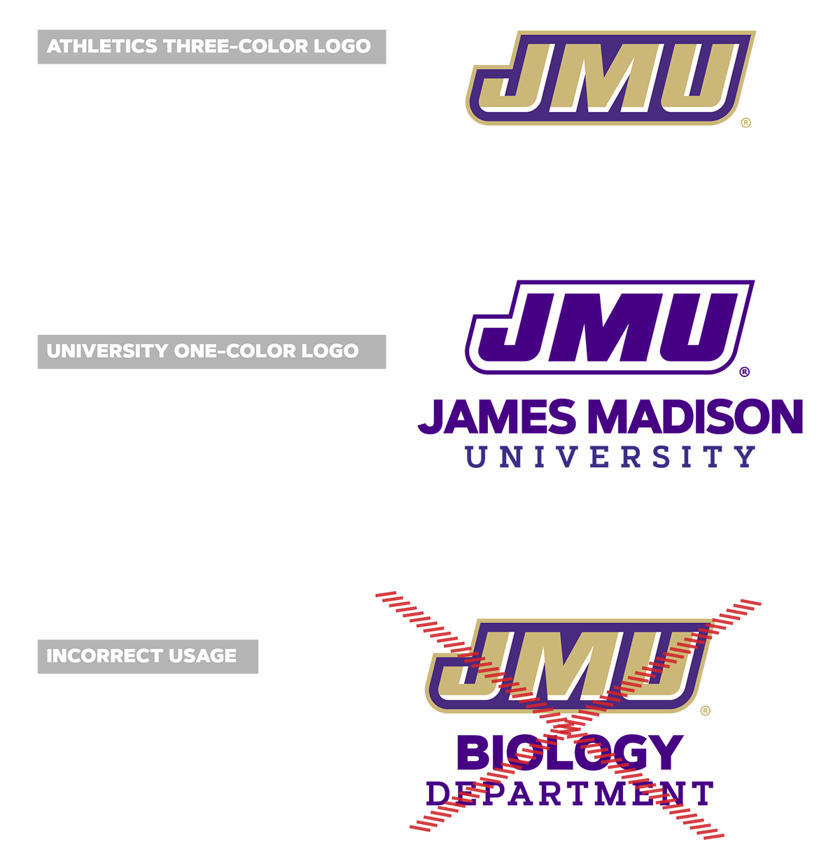James Madison University Jmu Logos Marks