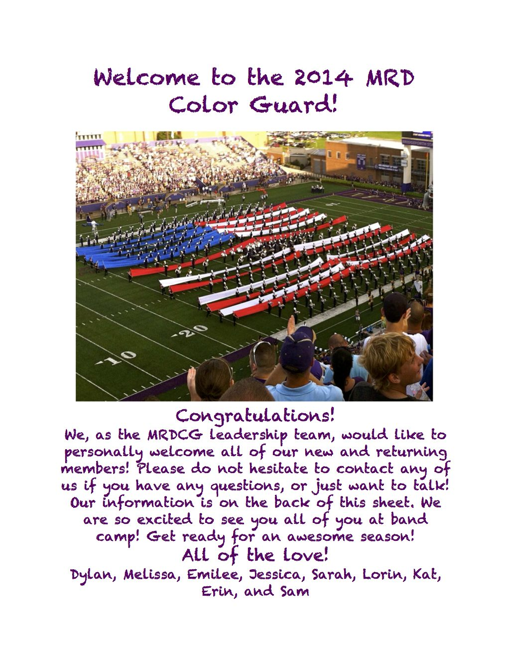 color guard information flyer