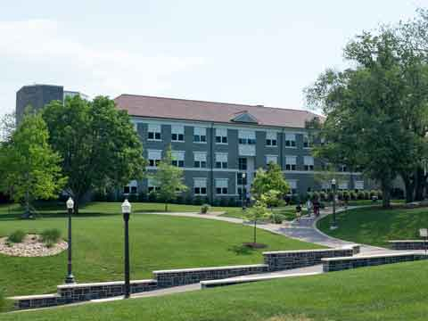 The Music Building on the JMU Quad