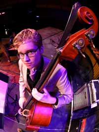 Jazz Studies major Neal Perrine performs on the upright bass